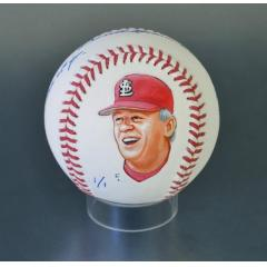 Whitey Herzog Signed & Hand Painted Full-Name MLB Baseball