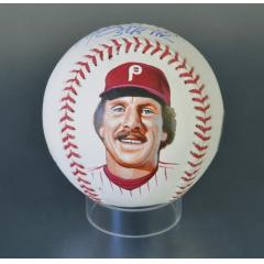 Mike Schmidt Signed Inscribed & Hand Painted MLB Baseball