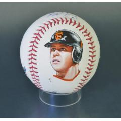 Buster Posey Signed & Hand Painted MLB Baseball