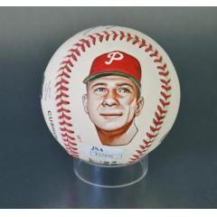 John Callison Signed & Hand Painted MLB Baseball