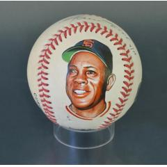 Willie Mays Signed & Hand Painted MLB Baseball