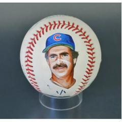 Bill Buckner Signed & Hand Painted MLB Baseball