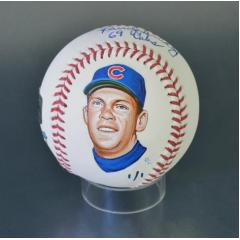 Randy Hundley Signed Inscribed and Hand Painted MLB Baseball