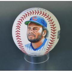 Lee Smith Signed Inscribed & Hand Painted MLB Baseball