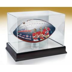 San Francisco 49ers NFL 100th Legacy Art Football & Display Case