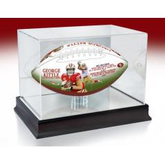 George Kittle TE Receiving Yards Record Art Football & Display Case