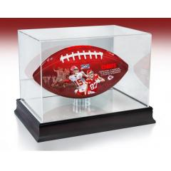 Kansas City Chiefs NFL 100th Legacy Art Football & Display Case