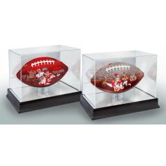 Patrick Mahomes II MVP and KC NFL 100th Anniversary Art FB Set with Display Cases