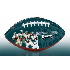 Philadelphia Eagles NFL 100th Legacy Art Football
