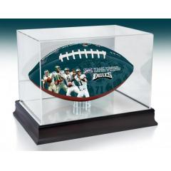 Philadelphia Eagles NFL 100th Legacy Art Football & Display Case