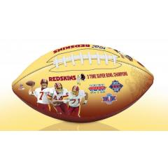 Washington Redskins NFL 100th Legacy Art Football