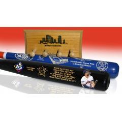 Altuve ALCS MVP Art Bat & Astros Most Wins Two Bat Set
