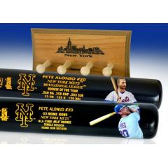 Pete Alonso NL ROY & MLB Rookie HR King Two Bat Set