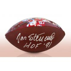 Jan Stenerud Signed & Inscribed KC Chiefs Legacy Art Football
