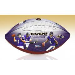 Baltimore Ravens NFL 100th Legacy Art Football