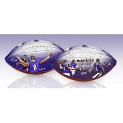 Lamar Jackson QB Rushing Record & Ravens NFL 100th Legacy Art Football Set