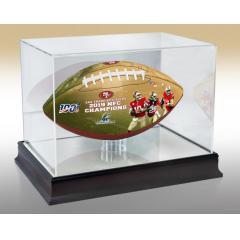 San Francisco 49ers Super Bowl LIV Commemorative Art Football & Display Case