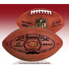 SF 49ers NFC Champions Super Bowl LIV Wilson Duke Game Ball