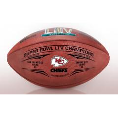 Chiefs Super Bowl LIV Champions Wilson Leather Duke Game Ball