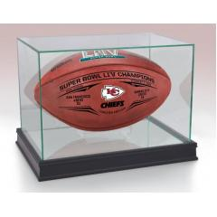 Chiefs Super Bowl LIV Champions Wilson Leather Duke Game Ball & Display Case