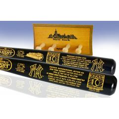 Jeter & Rivera Hall of Fame Matched Number Two Bat Set