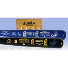 Dodgers WS Champions Two Tone and WS MVP Two Bat Set