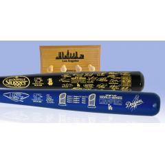 Dodgers 2020 WS Champions Louisville Slugger Two Bat Set