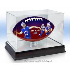 Josh Allen Bills Franchise Records Art Football & Display Case Set