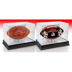 TB Buccaneers Super Bowl LV Champions Two Ball Set & Display Cases