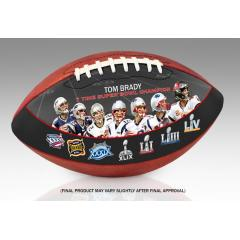 Tom Brady Seven Time Super Bowl Champion Art Football