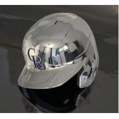 Rockies Chrome Authentic Rawlings Replica Batting Helmet