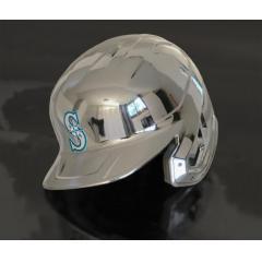Mariners Chrome Authentic Rawlings Replica Batting Helmet