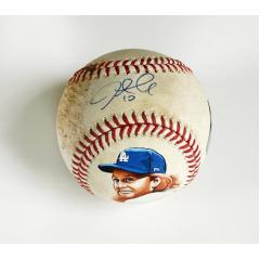 Justin Turner Signed & Hand Painted Game Used Baseball