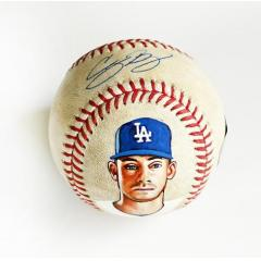 Cody Bellinger Signed & Hand Painted Game Used Baseball