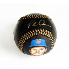 Pete Alonso Signed & Hand Painted Rawlings Black Baseball