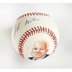 John McCain Signed & Hand Painted Baseball