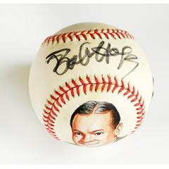Bob Hope Signed & Hand Painted Baseball