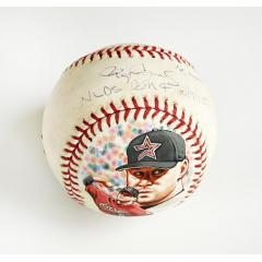 Roger Clemens Signed, Inscribed, Game Used & Hand Painted Baseball