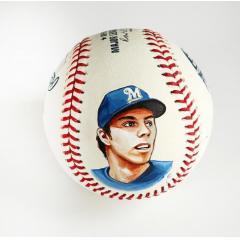 Christian Yelich Signed & HP MVP Logo Baseball