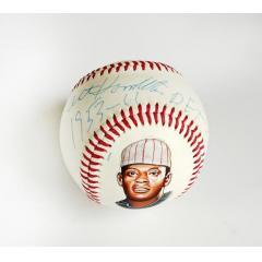 Art Hamilton Signed, Inscribed, & Hand Painted Baseball