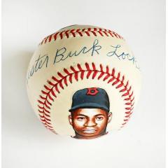Lester Buck Lockett Signed Full-Name & Hand Painted Baseball