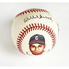 Willie Grace Signed & Hand Painted Baseball