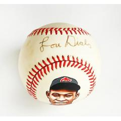 Lou Dials Signed & Hand Painted Baseball
