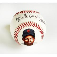 Neale BoBo Henderson Signed and Hand Painted Baseball