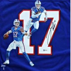 Josh Allen Signed & Hand Painted Bills Nike Jersey