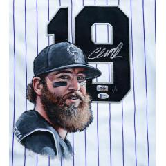 Charlie Blackmon Signed & Hand Painted Authentic Majestic Jersey