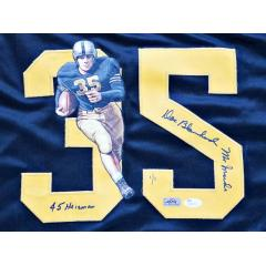 Doc Blanchard Signed, Inscribed, & Hand Painted Army Jersey