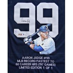 Aaron Judge Signed & Hand Painted Authentic Nickname Jersey