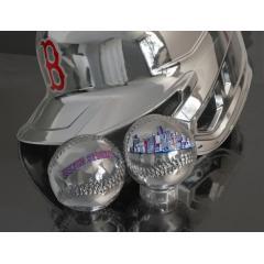 Boston Strong Silver Chrome Baseball & Red Sox Chrome Batting Helmet