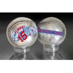 Dustin Pedroia Boston Strong Silver Chrome Baseball